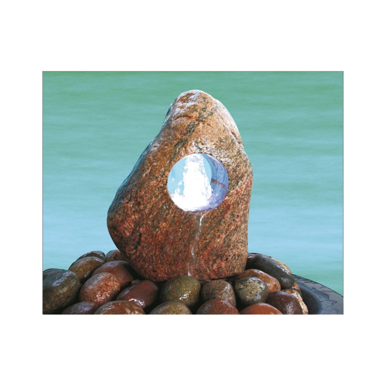 Quellstein Felsgrotte mit gesägtem Fuß,Bohrung DM32mm,H ca.30-40 cm