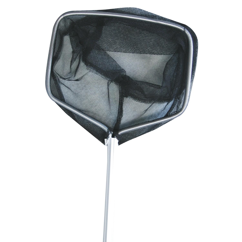 Alu-Kescher schwarz mit Stiel 90cm, Netz  grob 24*17cm