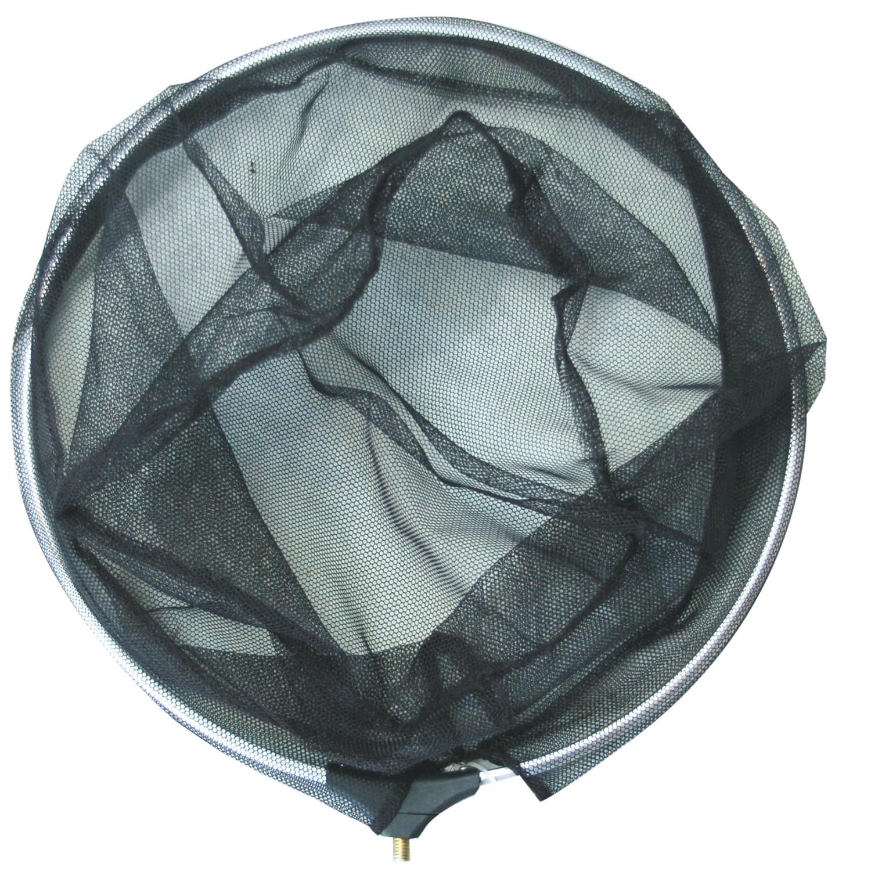 Kescher Netz schwarz Ø35cm rund, Netz grob