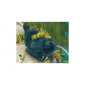Teichfigur Fisch Dekor Bronze H=ca.14cm, Polyresin