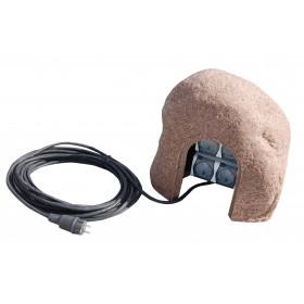 Steckerstein ST-ST 2 mit 10m Kabel  38*36*32cm, sand/rot, anschlußfertig