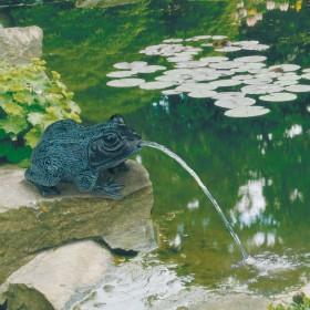 Teichfigur Frosch Dekor Bronze L=ca.15cm, Polyresin